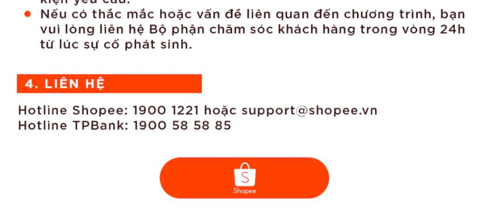 Hướng dẫn cách sử dụng deal giảm giá từ ngân hàng trên Shopee liên hệ với shopee hoặc liên hệ với ngân hàng