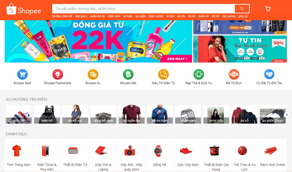 Hướng dẫn mua hàng trên Shopee, hướng dẫn tìm kiếm sản phẩm