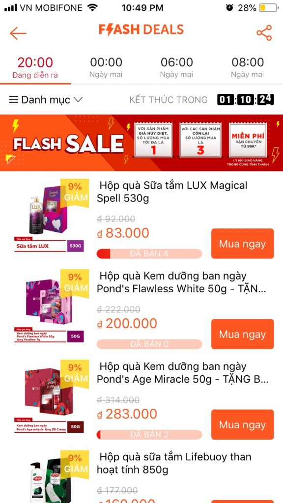 Mẹo mua sắm trên Shopee theo dõi Flash Sale