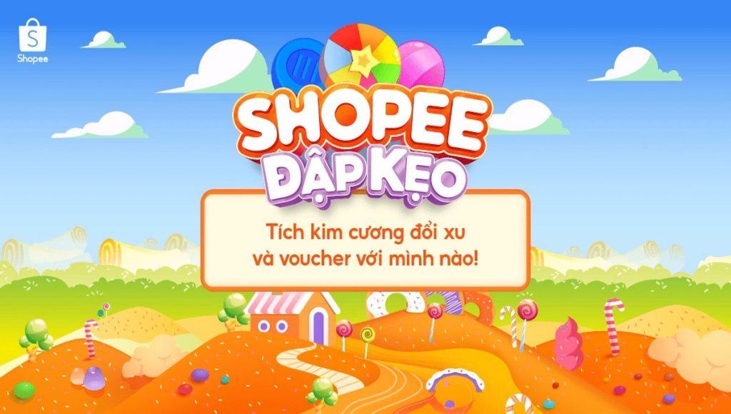 Game Đập Kẹo Shopee, hướng dẫn vào game, hướng dẫn chơi game.