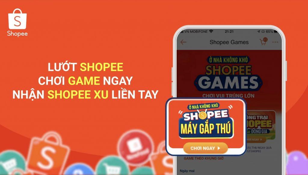 Hướng dẫn vào Game Gắp Thú Shopee Trúng Ngàn Quà